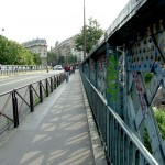 Paris bridge over Montmarte cementary