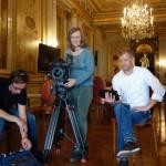 Dreharbeiten Paris Hôtel de Talleyrand