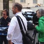Dreharbeiten Paris am Friedhof Montmartre